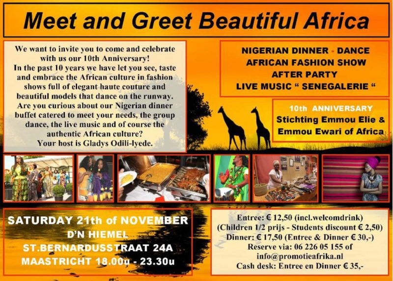 21. November 2015 - Meet and Greet Beautiful Africa in Maastricht