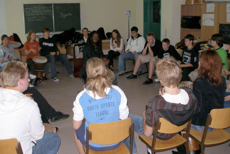 Trommelprojekt in Schulen
